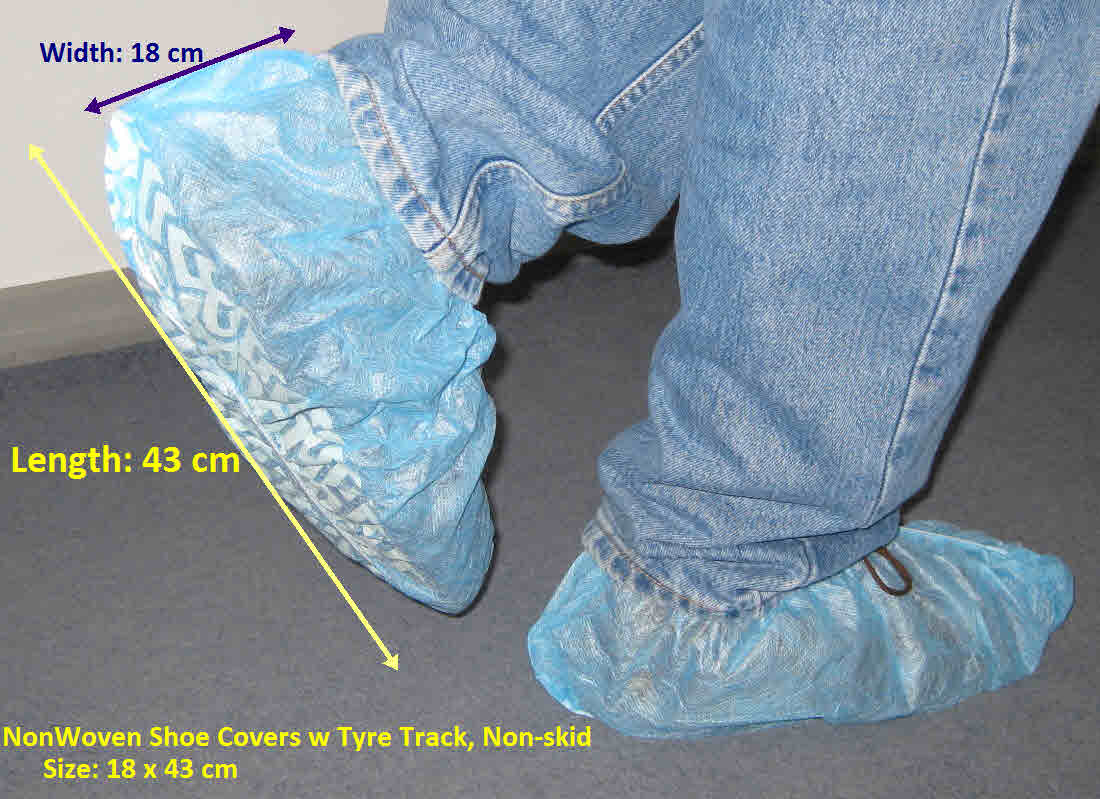Nonwoven Shoe Covers w tyre track NonSkid_1